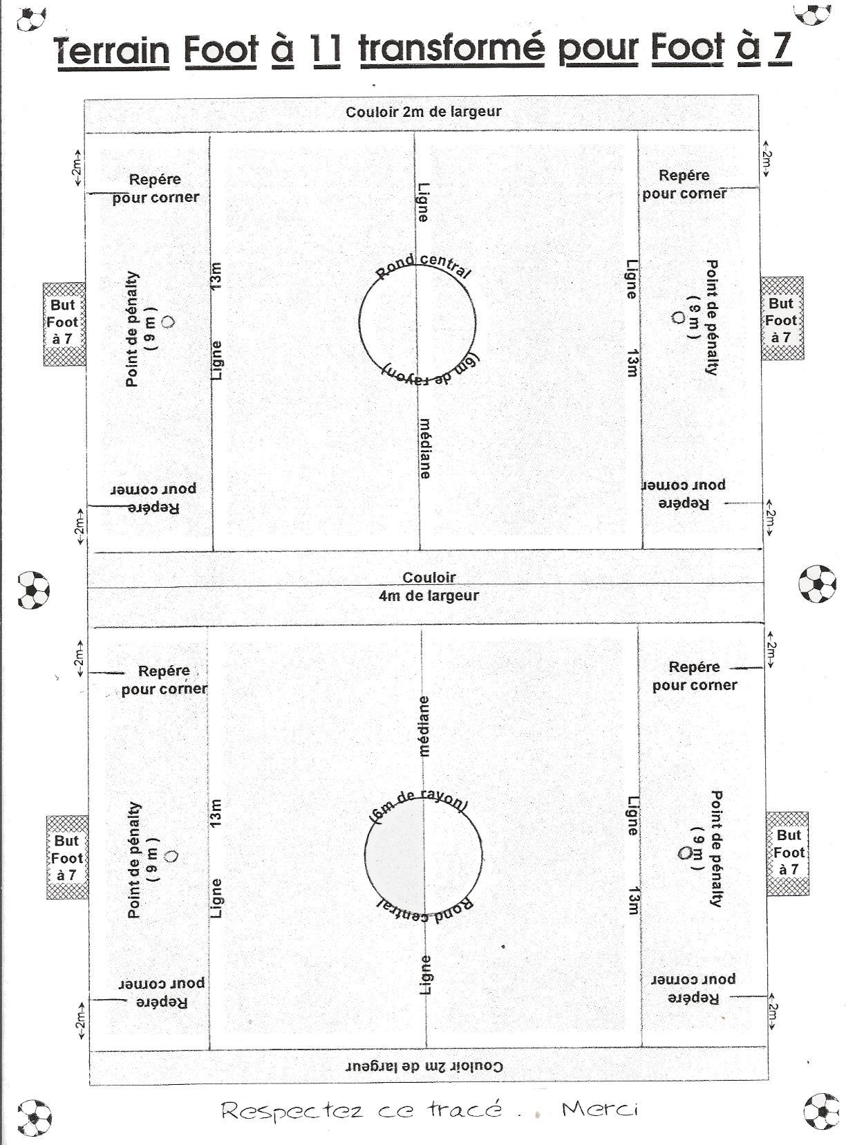 Les dimensions d un terrain de football 11 pictures to for Mesure terrain de tennis